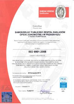 Iso 9001 2008 recertyfikacja 2016 for Bureau veritas polska